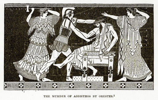 The Murder of Aigisthos by Orestes